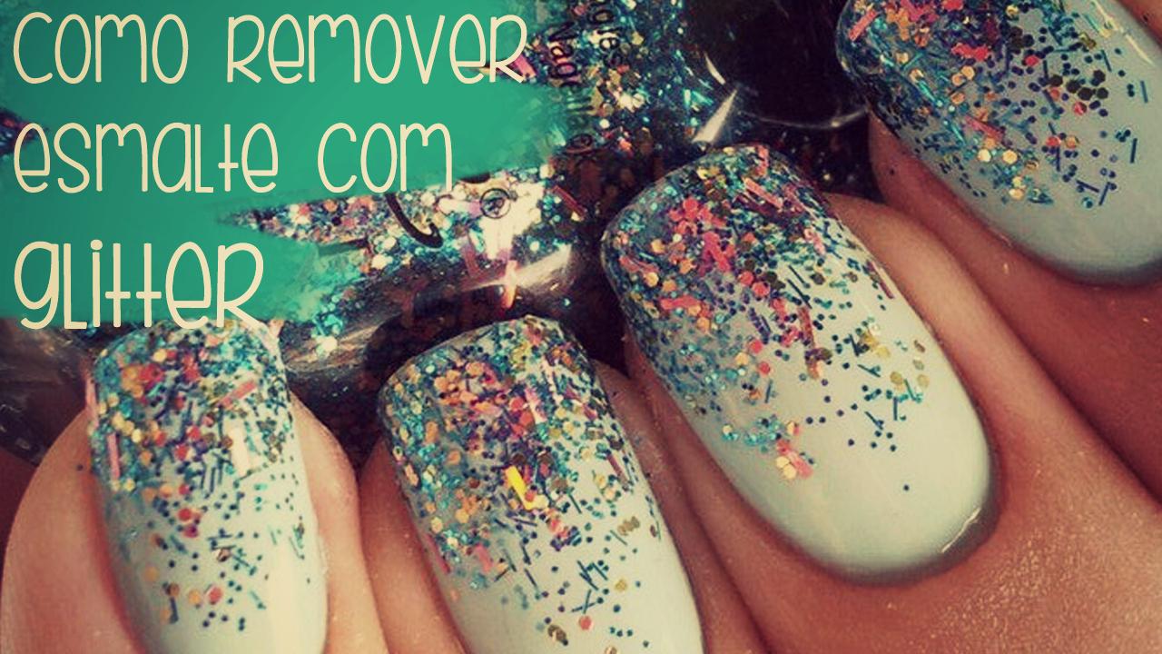 remover esmalte glitter