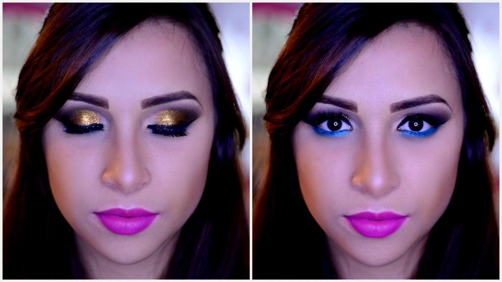 maquiagem dourada e tag make total
