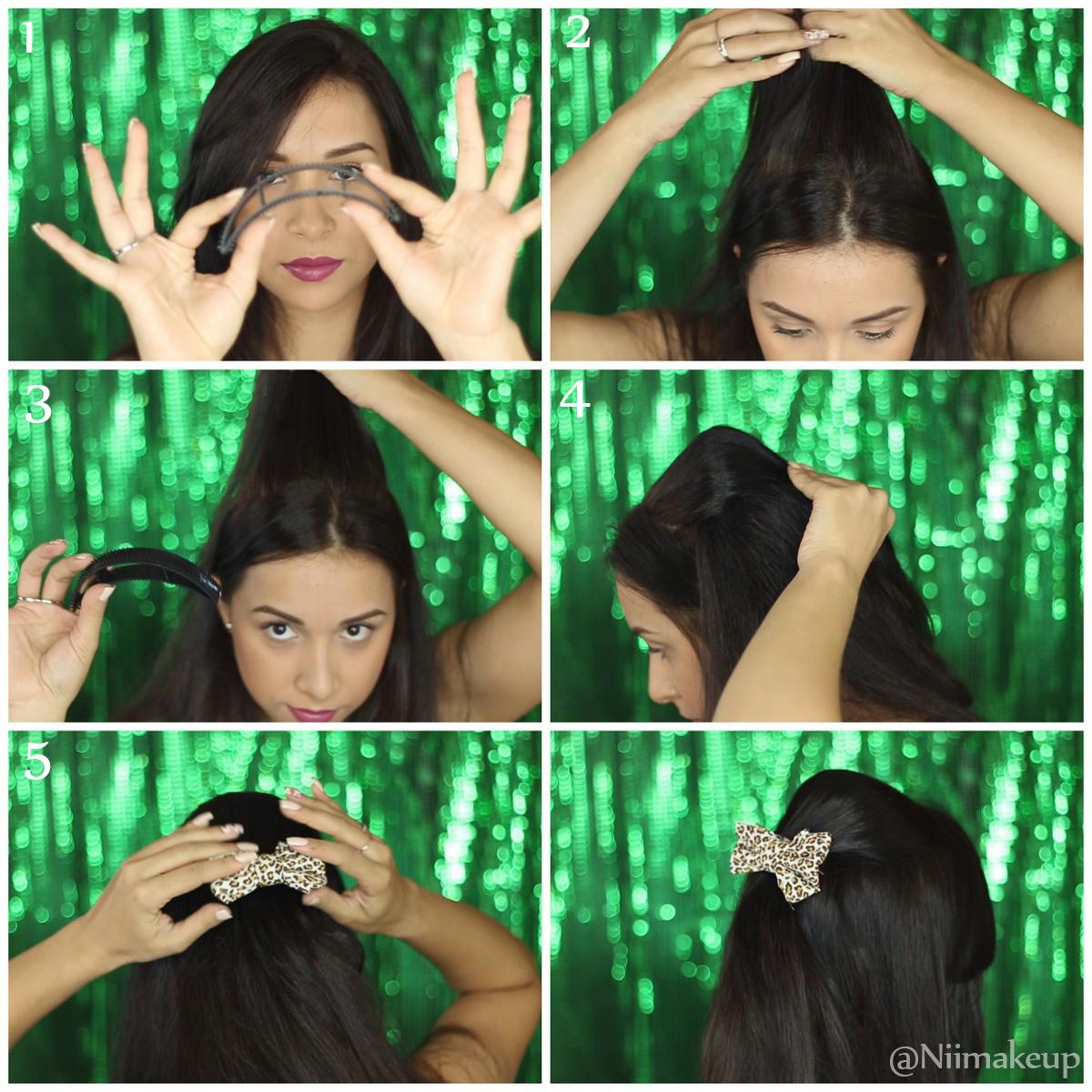 penteado com topete